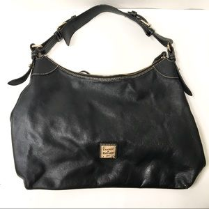 Dooney & Bourke Black Leather Hobo Shoulder Bag